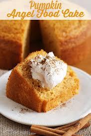 light pumpkin dessert recipes pumpkin angel food cake light airy angel food cake with a hint of