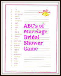 freebie the abc u0027s of marriage bridal shower game fun bridal