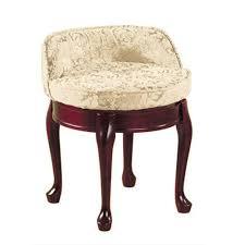 amazon com delmar low back swivel vanity stool low back ivory