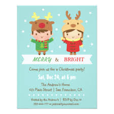 christmas party invitations kids christmas party invitations announcements zazzle