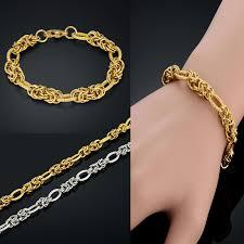 bracelet gold man silver images Vintage men jewelry chunky simple men chain link bracelet gold jpg