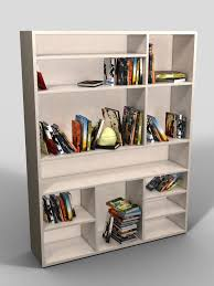 Bookcase In Wall 3d Bookcase In White Cgtrader