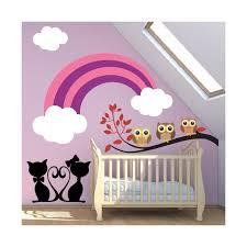stickers chambre stickers chambre bébé arc en ciel avec l amour tous les jours