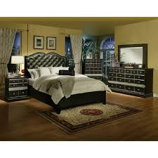 Hollywood Glamour Furniture Bedroom Sets Signature Design By Ashley Zarollina Panel Customizable Bedroom