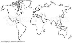 outline of world map map world black outline major tourist attractions maps