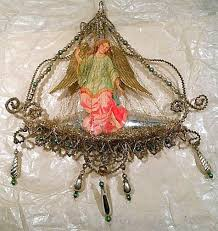 588 best antique and vintage tinsel ornaments images on