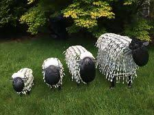sheep metal garden statues lawn ornaments ebay