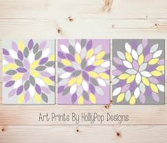 Gray And Yellow Bathroom by Purple Yellow Gray Wall Art Bedroom Wall Art Bathroom Wall Art