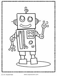 robot coloring page crayon action coloring pages