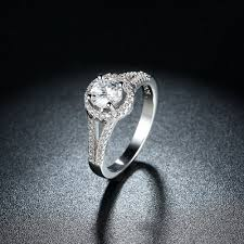 high quality 100 solid 925 sterling silver ring cake engagement