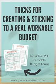 How To Set Up A Budget Spreadsheet by 72 Best Free Budget Printables Images On Pinterest Money Tips