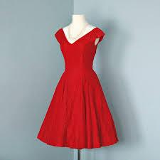 vintage valentine red lace cocktail dress beautful 1950s