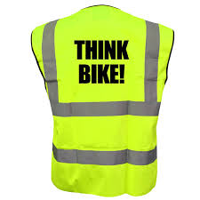 reflective bike jacket cyclist high visibility vest think bike hi viz safety reflective