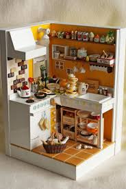 Dollhouse Kitchen Furniture Best 25 Miniature Kitchen Ideas On Pinterest Diy Dollhouse