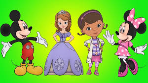 learn colors 3d coloring doc mcstuffins sofia the first mickey