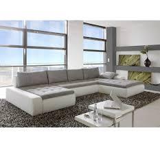 canapé convertible gris et blanc canapé d angle convertible capitonné pégase blanc gris living