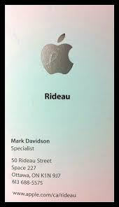 apple business card business card of the apple specialist who helped me a photo on