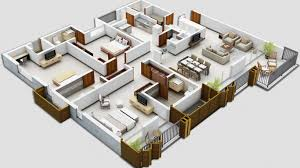 3d Floor Designs by 25 Three Bedroom House Apartment Floor Plans