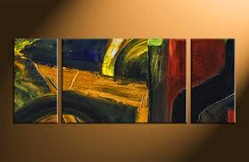 3 piece colorful wall decor abstract oil paintings artwork