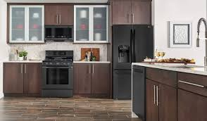 gray kitchen cabinets with black stainless steel appliances is black stainless steel right for your kitchen reviewed