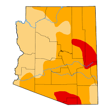 us map arizona state united states drought monitor current map state drought monitor