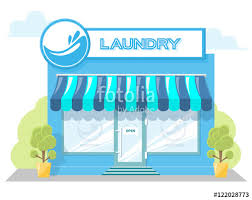 Awning Window Symbol Facade Laundry Signboard With Emblem Awning And Symbol In