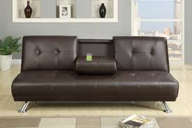 Faux Leather Sofa Sleeper Faux Leather Sofa Bed With Cup Holders