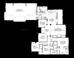 main floor plan of mascord plan 2377 the pineville l shaped 4