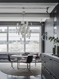 new york home design magazines pk 54 table and pk 9 chairs by poul kjærholm from fritz hansen