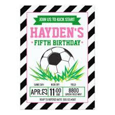 girls soccer birthday cards u0026 invitations zazzle com au