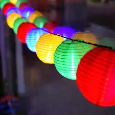 Solar Outdoor Lantern Lights - solar string lights lantern ball 10 20 led solar outdoor lighting