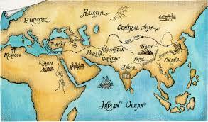 Silk Road Map Illustrations