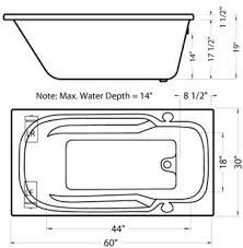 Bathtub Sizes Standard Jacuzzi Tub Dimensions Interior Home Design Home Decorating