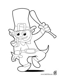 leprechaun coloring page leprechaun with pot of gold and rainbow