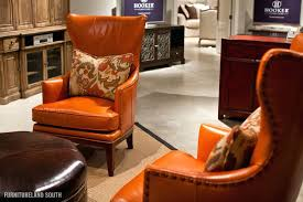 Wingback Chair Ottoman Design Ideas Leather Wing Chair And Ottoman Orange Leather Chair With Cushions