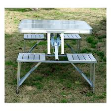 aluminum portable picnic table outsunny aluminum portable picnic table chair set mh star
