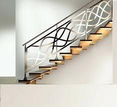 chrome banister rails modern stair railings interior contemporary design with internal