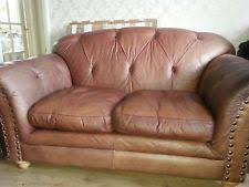 Chesterfield Sofa Brown Leather Chesterfield Sofa Ebay