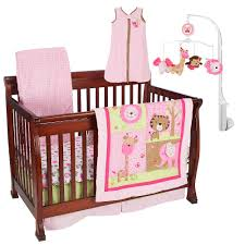 Jungle Themed Nursery Bedding Sets by Just Born Girls Sassy Safari 6 Piece Crib Bedding Set Just Born
