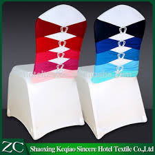 wholesale lycra chair sash for wedding with crown buckle chair