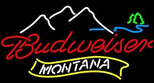 bud light neon light new montana mountain budweiser bud light neon sign neonsignsus com