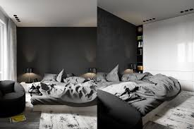 chambre à coucher blanc et noir design interieur déco chambre coucher adulte blanc noir idées