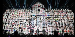3d light show shanghai 3d light show greets new year