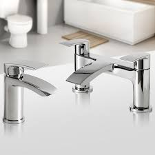 modern chrome bathroom tap set basin mixer bath filler taps deck bathroom mirrors