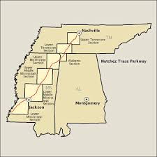 map usa parkway natchez trace parkway map america s byways