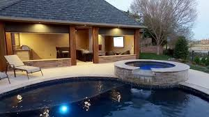 pool and outdoor kitchen designs pool cabana design with outdoor kitchen designing idea