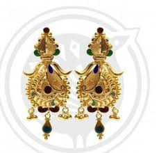 gold stud ben enamel gold stud drop earrings with sone ki baliyan