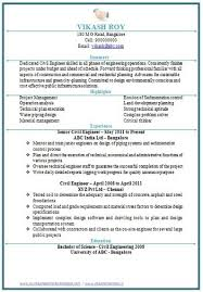 resume format for freshers civil engineers pdf over 10000 cv and resume sles with free down