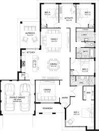 four bedroom plan single story house best plans imperial alfresco