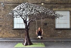 arbour metallum tree sculpture reed sculpture